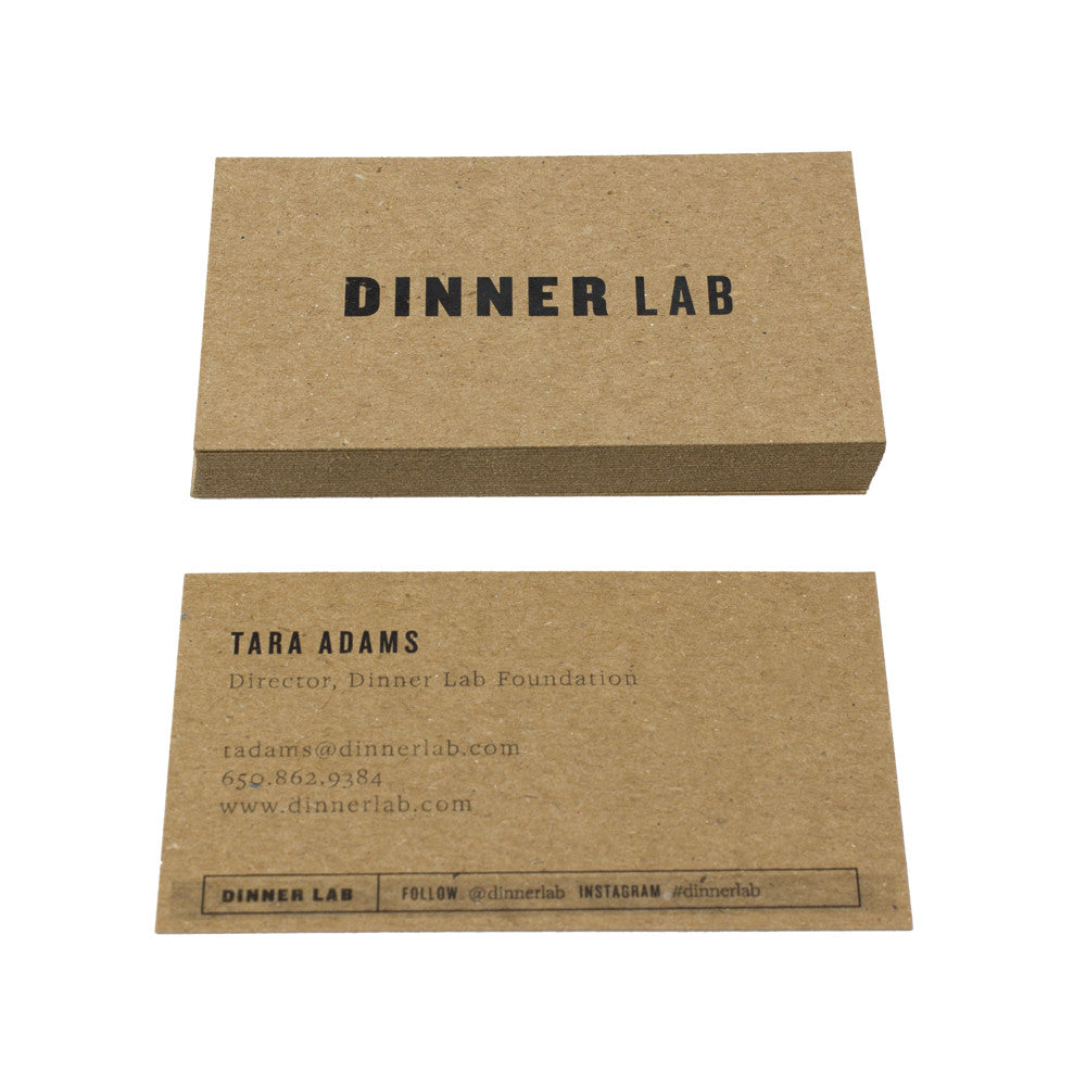 Recycled chipboard business cards guided recycled business cards dinner lab reheart Image collections