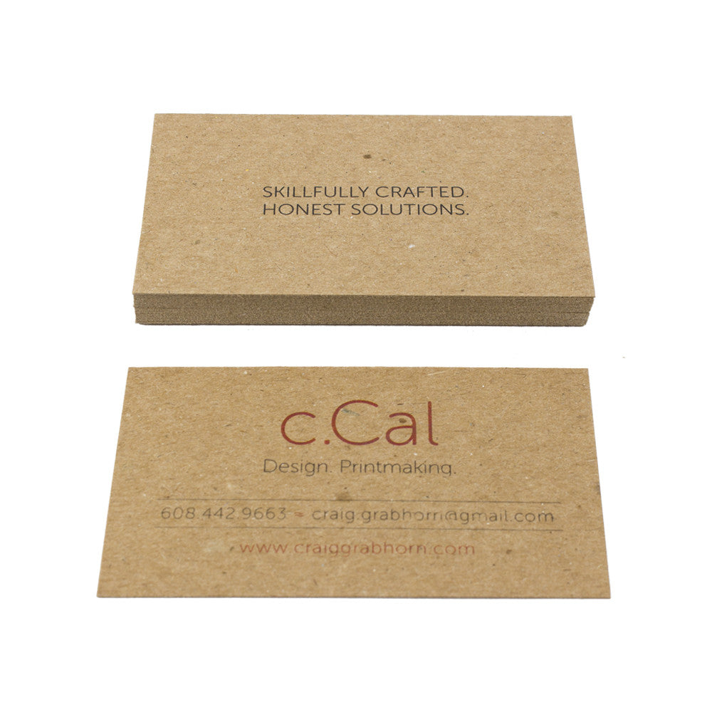 Recycled Chipboard Business Cards - Guided.com