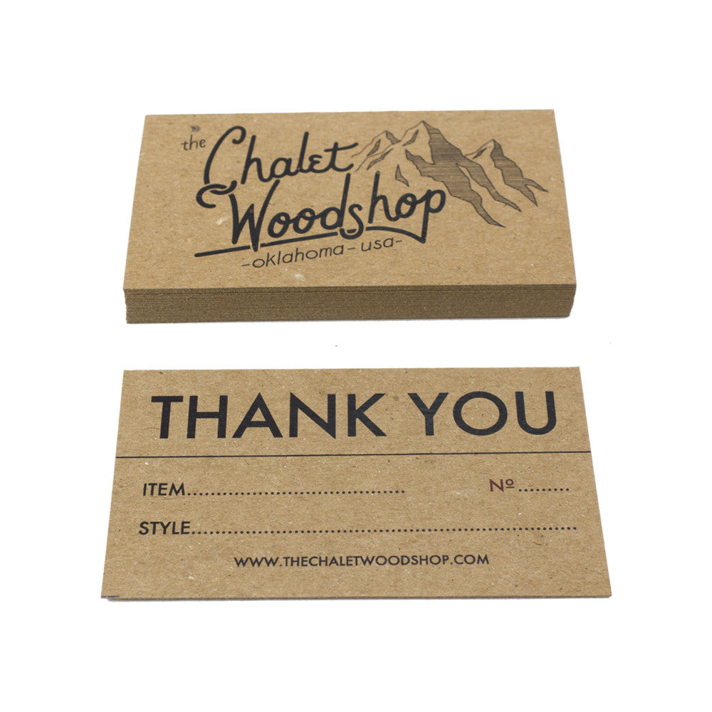 Recycled Chipboard Business Cards