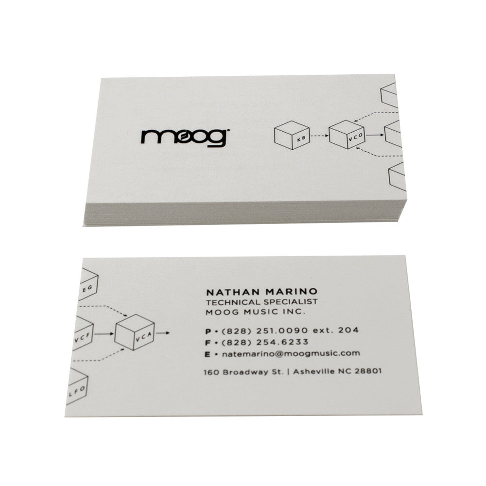 Premium Natural White Business Cards Guided