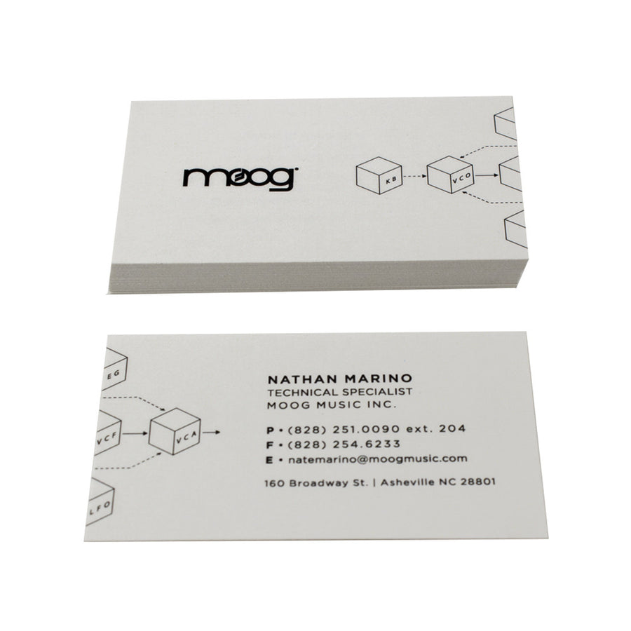 Recycled Business Cards - Flood Print on Natural White Stock