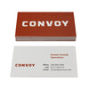 Recycled Business Cards Reversed Print - Convoy