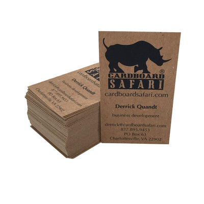 Recycled Business Cards for Cardboard Safari