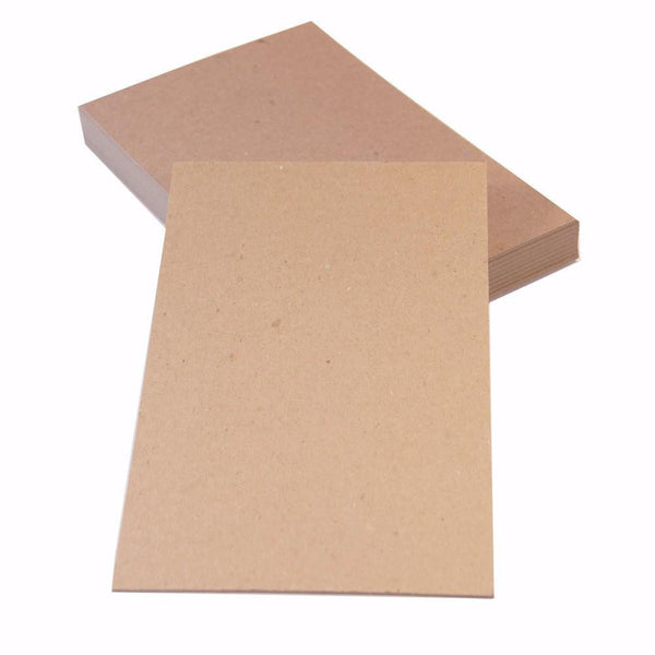 "100 pt Chipboard Sheets / Cards - 5.5"" x 8.5"" (10 sheets) - Brown Kraft Cards"