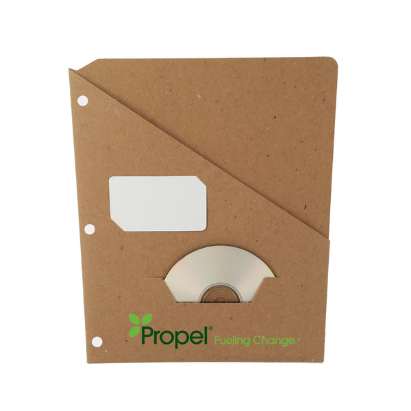Custom Printed Binder Pockets - RePouch -  Business card and CD Slots