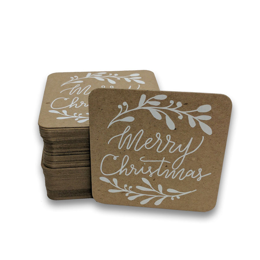 Foil Stamped Recycled Drink Coasters