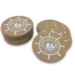 Recycled chipboard brown kraft coasters