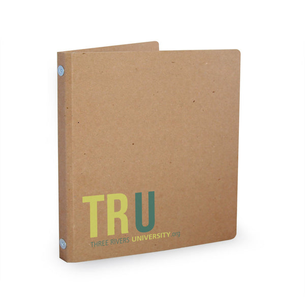 "Custom Printed 1/2"" ReBinder Select Recycled Binders - 35pt Chipboard"