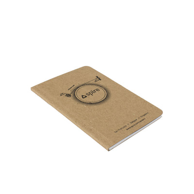 "Screen Printed Recycled Chipboard Notebook - 3.5"" x 5.5"""