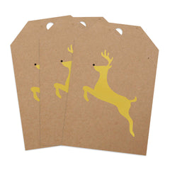 Foil Stamped Gift Tags -  Brown Kraft 20 pt Chipboard