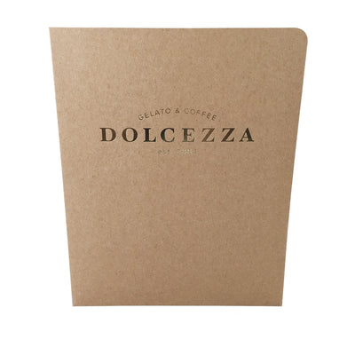 Foil Stamped Presentation Folders - RePocket - 20 pt Recycled Chipboard