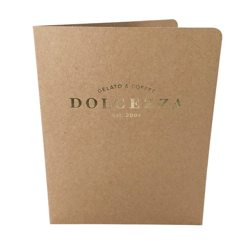 Foil Stamped Presentation Folders - RePocket - Foil Stamped, Dolcezza