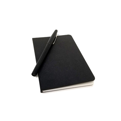 "Foil Stamped Black Recycled Notebook - 3.5"" x 5.5"""