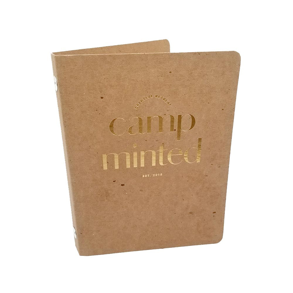 foil stamped 1 2 rebinder select mini recycled binders guided