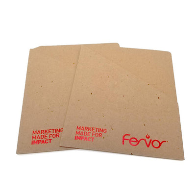 Foil Stamped Recycled Pocket Folder - Single Pocket