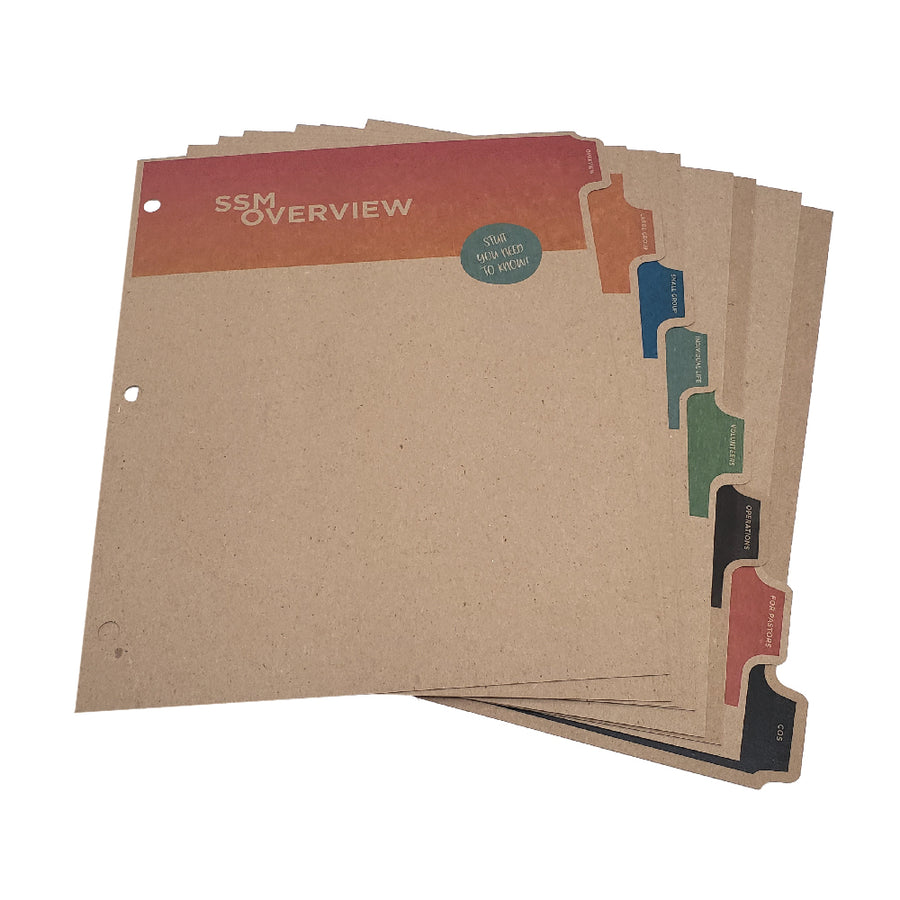Custom Printed Binder Dividers - ReTab 8-Tab - Digital Print