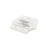 Full Color Printed Fold Over Hang Tag with Earring Holes - White Card Stock