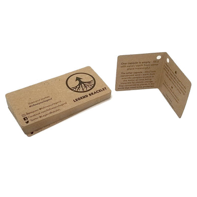 "2"" Folded Square Hang Tag - Recycled Chipboard"