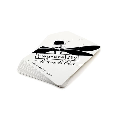 Oversized Full Color Printed White Earring Cards