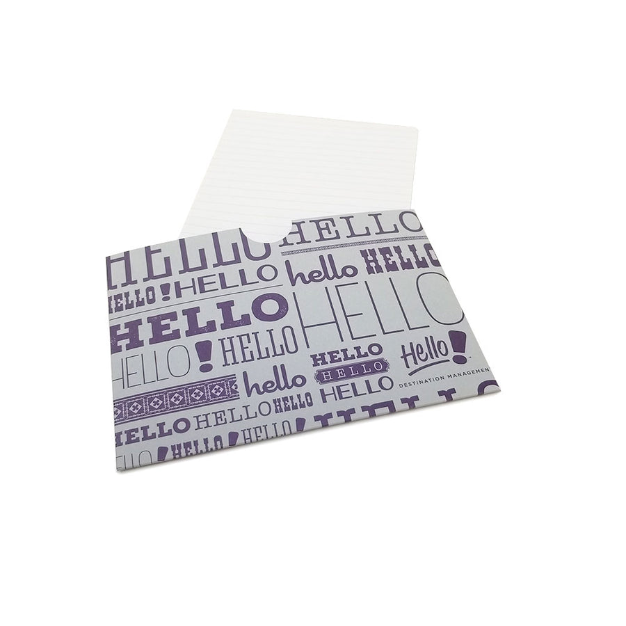 "5.5"" x 4.25"" Full Color Printed Receipt Sleeve - Colored Card Stock"