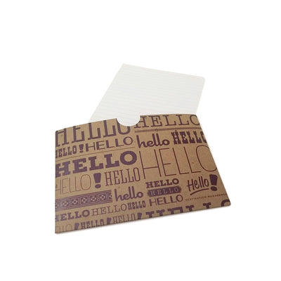 "5.5"" x 4.25"" Full Color Printed Receipt Sleeve - Recycled Chipboard"