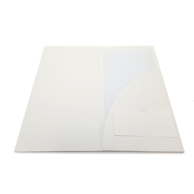 Full Color Printed Single Pocket Brochure Folder - White Card Stock