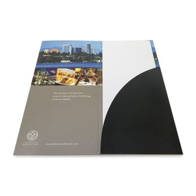 Custom Printed Glossy Brochure Folder - Single Pocket