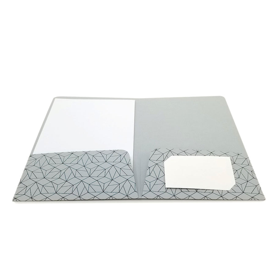 Full Color Printed Mini Two Pocket Folder - Colored Board