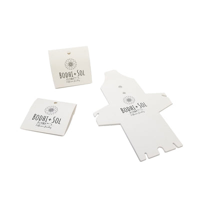 White Stock Folding Pouch Necklace Cards