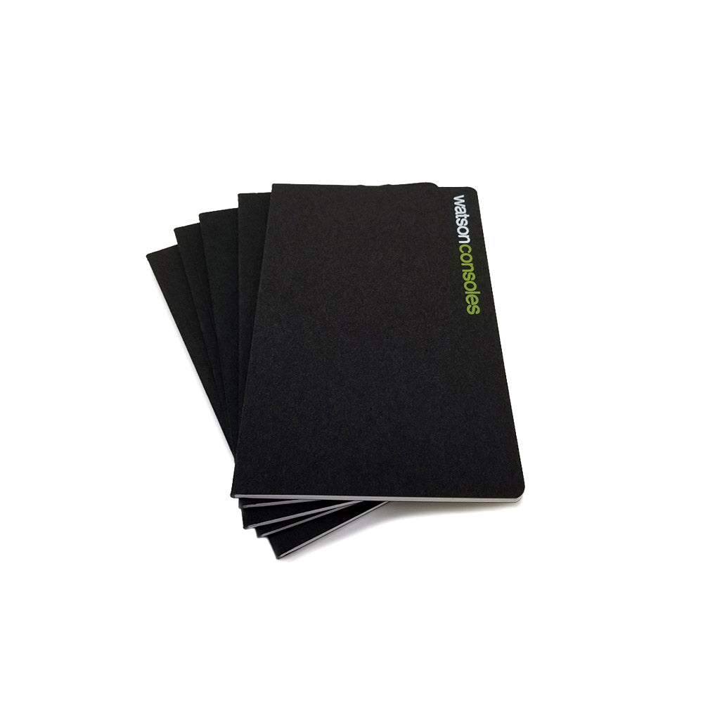 Custom Printed Black Notebooks - 3.5