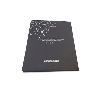 Custom Printed Black Presentation Folder Back