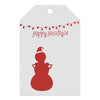 Foil Stamped Gift Tags -  Holiday Card
