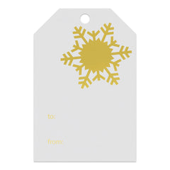 Foil Stamped Gift Tags -  Natural White