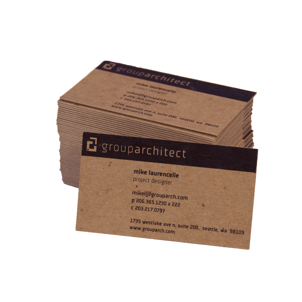 Thick Recycled Business Cards