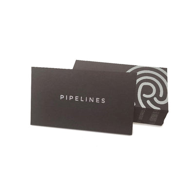 Custom Foil Stamped Black Business Cards