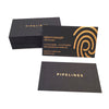 Foil Stamped Black Chipboard Business Cards