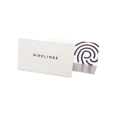 Custom Foil Stamped White Business Cards