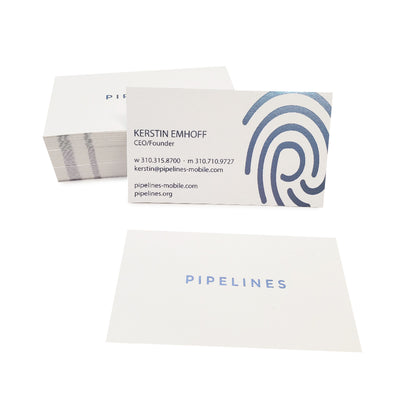 Foil Stamped Premium White Business Cards