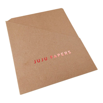Foil Stamped Pocket Folders - RePouch - Natural Brown Kraft