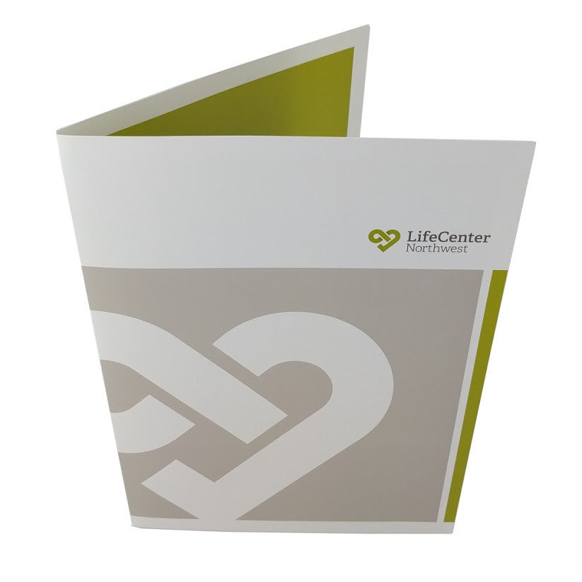 Guided Glossy Presentation Folder