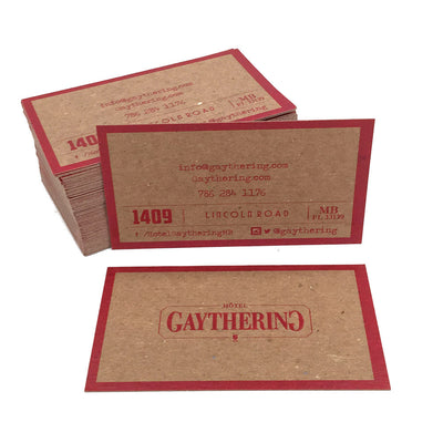 Recycled Business Cards - Border Color