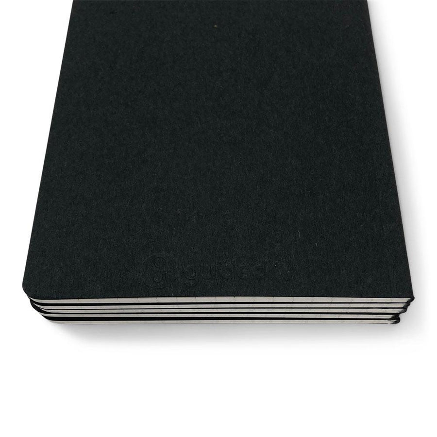"Foil Stamped Black Recycled Notebook - 5"" x 8"""