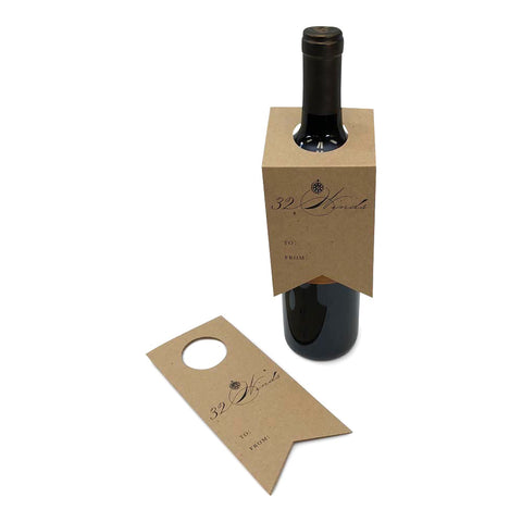 Custom Printed Recycled Chipboard Wine and Spirit Tags