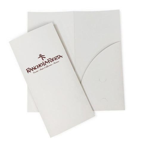 Custom Printed Premium Brochure Folder - Single Pocket