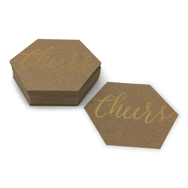 Custom Hexagon Thick Recycled Coaster