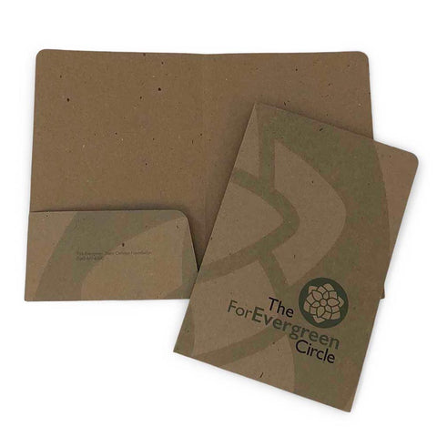 Custom Printed Recycled Mini Folder - Two Pocket