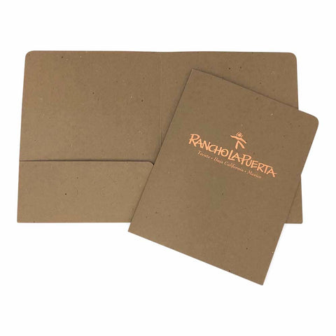 Foil Stamped Recycled Presentation Folder - Two Pocket