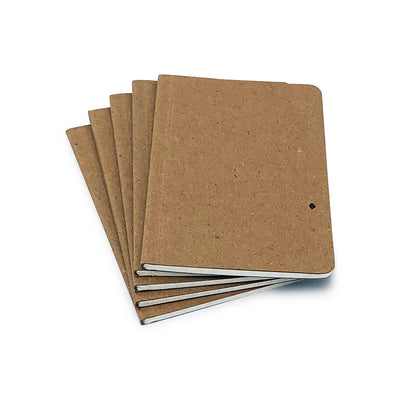 "Recycled Chipboard Notebook - 3.5"" x 5.5"""