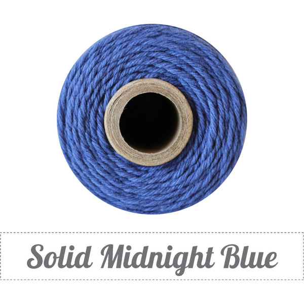 Bakers Twine - Solid Midnight Blue Spool