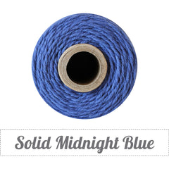 Bakers Twine - Solid Midnight Blue Spool - Beautiful Midnight Blue
